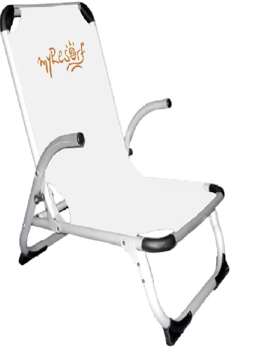 Καρέκλα Παραλίας Αλουμινίου Με Ψηλή Πλάτη Λευκή