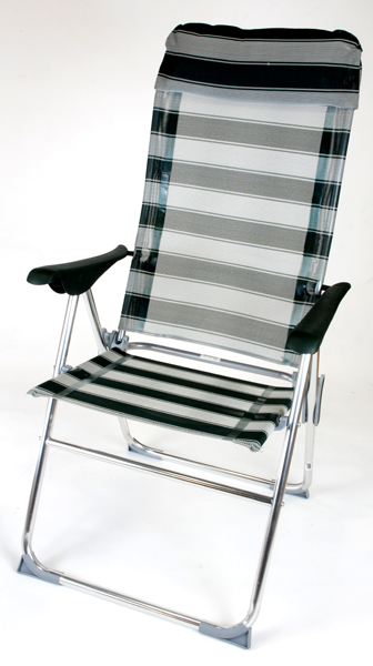 Καρέκλα Αλουμινίου ψηλή – ανακλινόμενη
