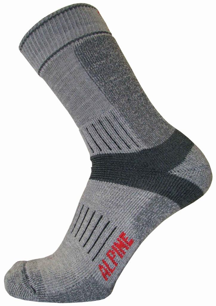 Κάλτσες Alpin Trekking Γκρι