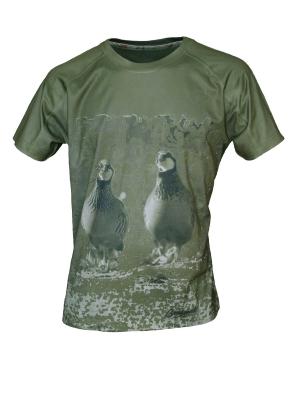 Κοντομάνικο Μπλουζάκι με Παράσταση Πέρδικας 456