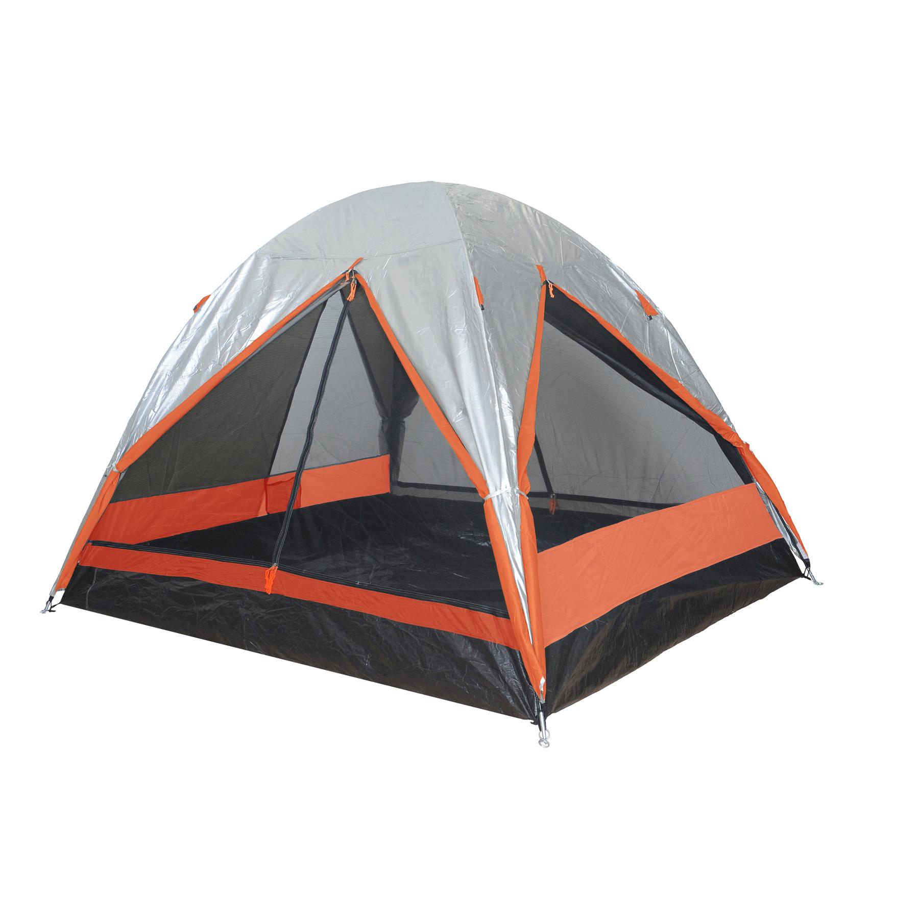 Σκηνή 3 ατόμων Camping Plus By Terra Comet 3 Ασημί/Πορτοκαλί