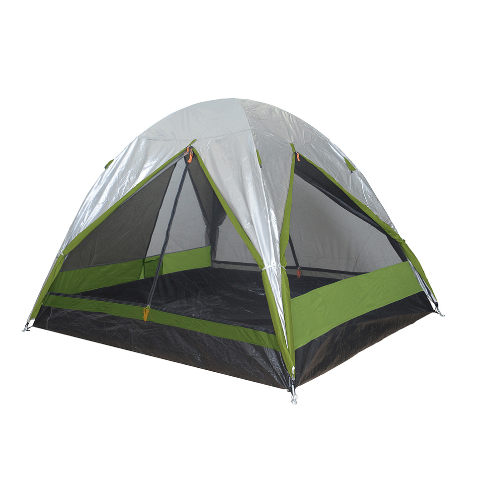 Σκηνή 4 ατόμων Camping Plus By Terra Comet 4 Ασημί/Πράσινο