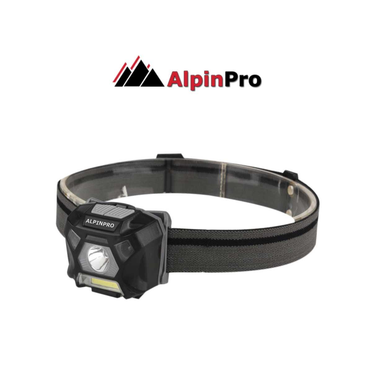 Φακός Κεφαλής Alpinpro με Sensor + Cob