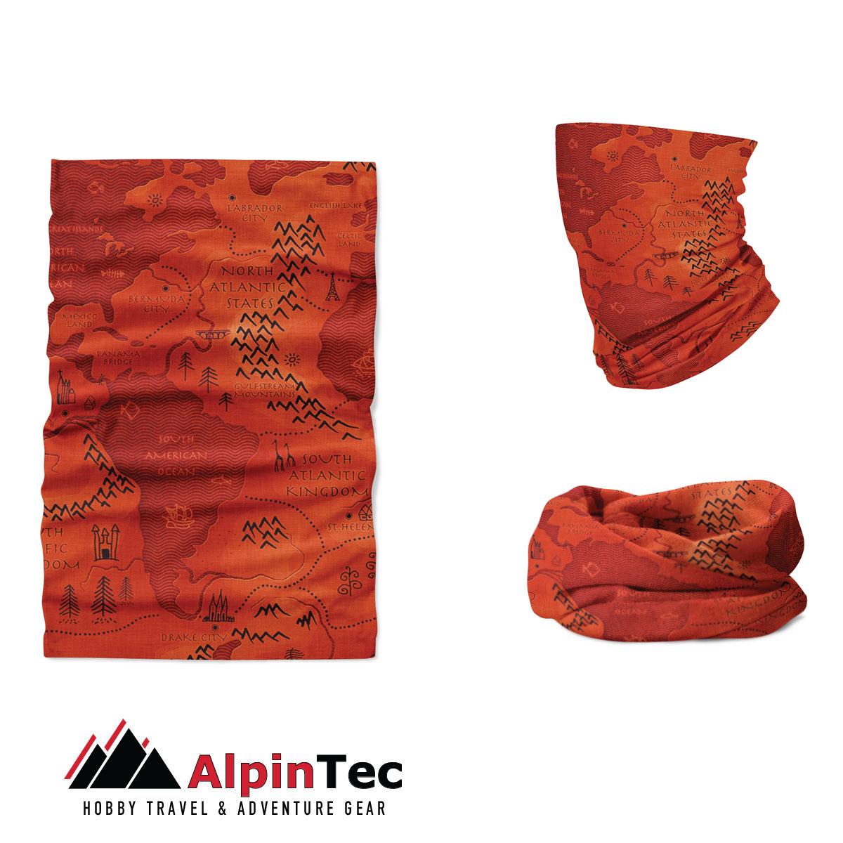 Μαντήλι Λαιμού Alpintec Coolmax Uv Fairy Map