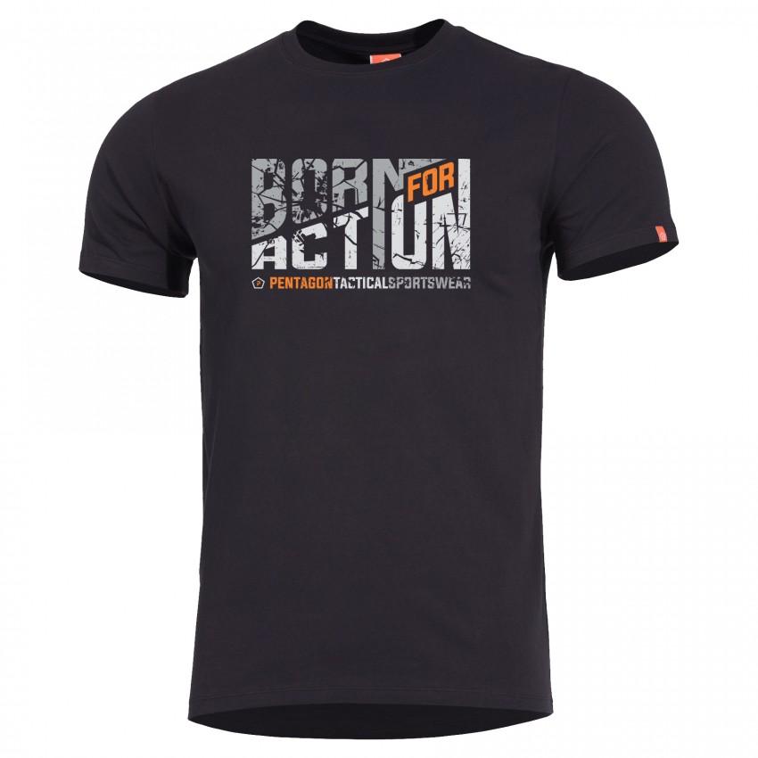 """Κοντομάνικη Μπλούζα Pentagon """"born For Action"""""""