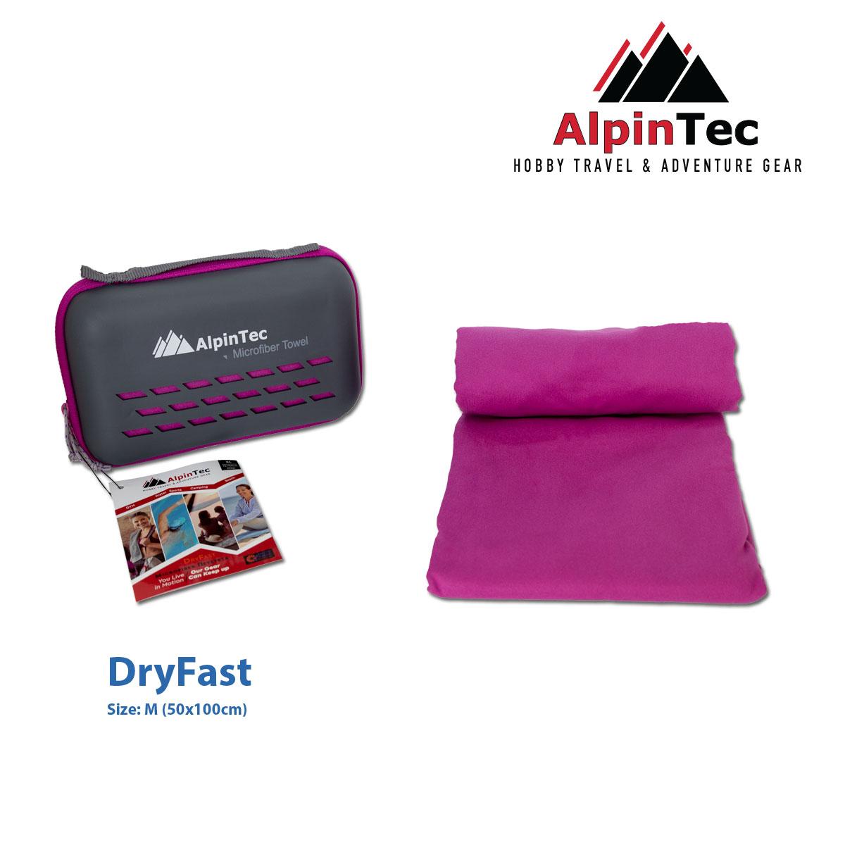 Πετσέτα Alpintec Dryfast M 50x100 Purple