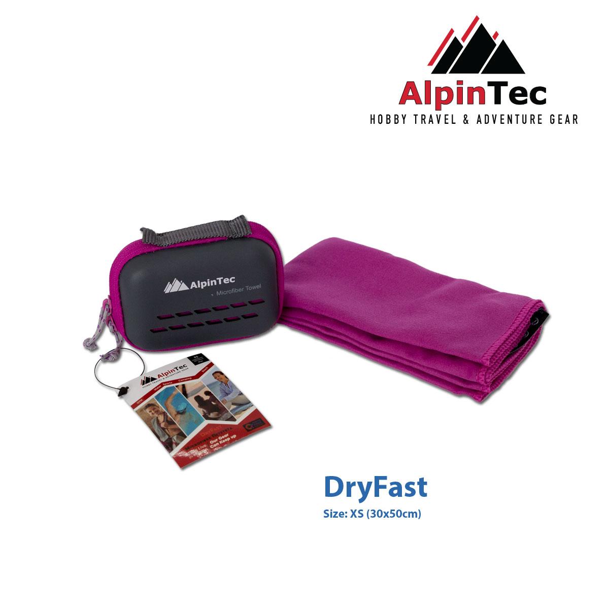 Πετσέτα Alpintec Dryfast Xs 30x50 Purple
